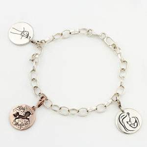 The Rainbow Collection - Charm Bracelet Silvery
