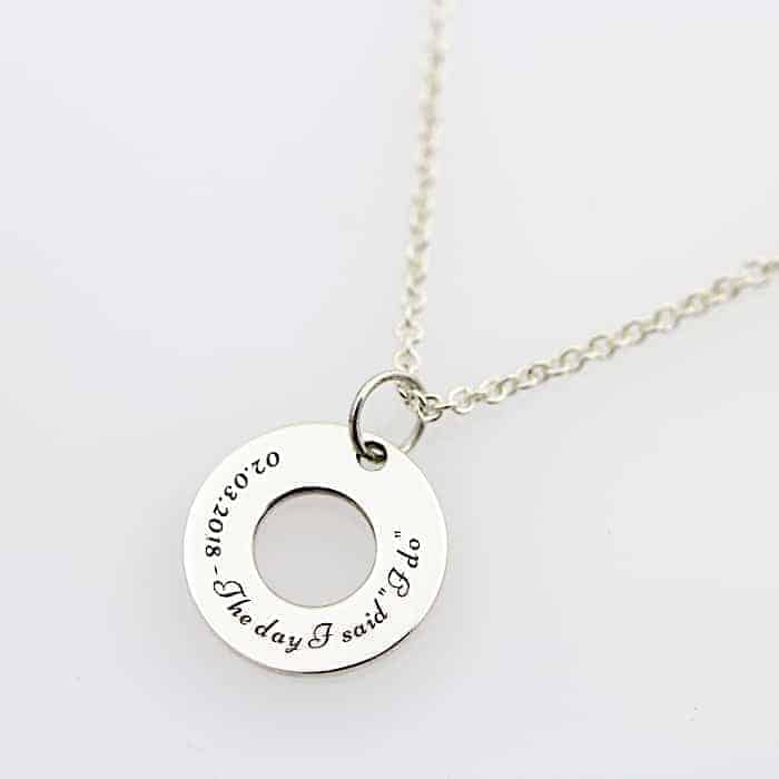 Engraved Washer Necklace1