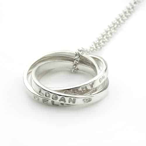 Triple Family Ring Necklace