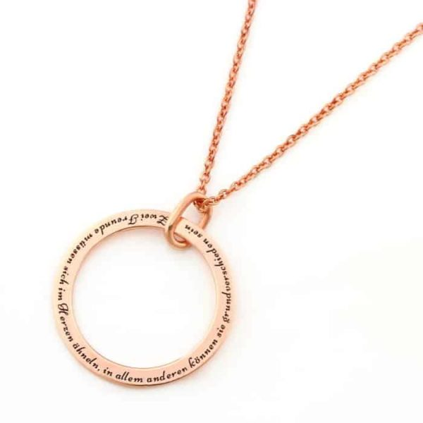 Engraved Unity Hoop Necklace