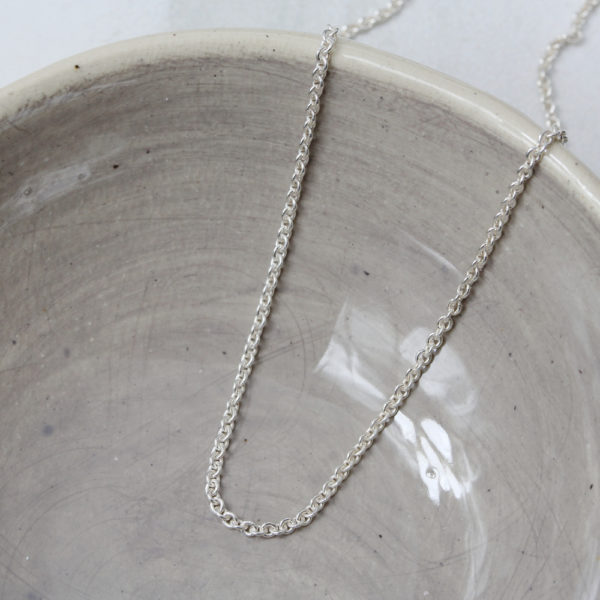 Sterling Silver Round Link Chain 1.3mm Link Size