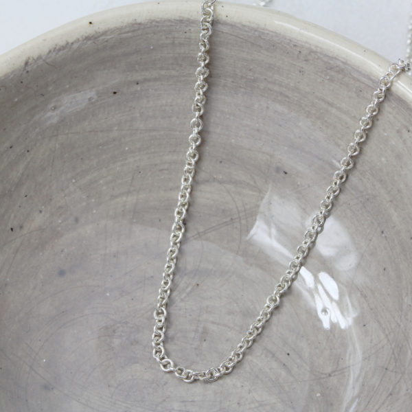 Sterling Silver Round Link Chain 1.5mm Link Size