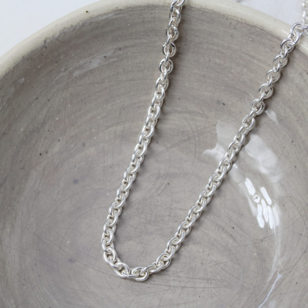 Sterling Silver Round Link Chain 3mm Link Size
