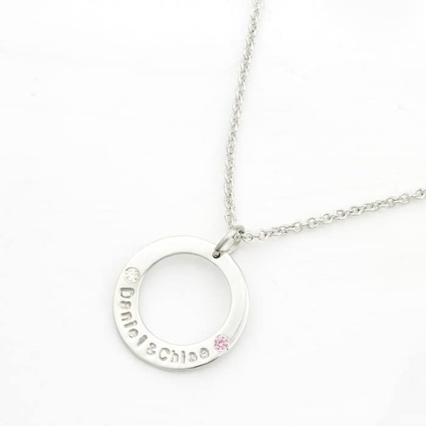 Birthstone Washer Necklace South Africa