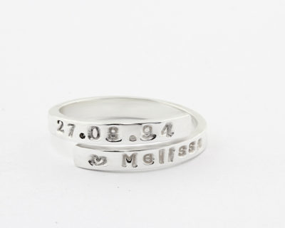 Dainty Open Band Silvery