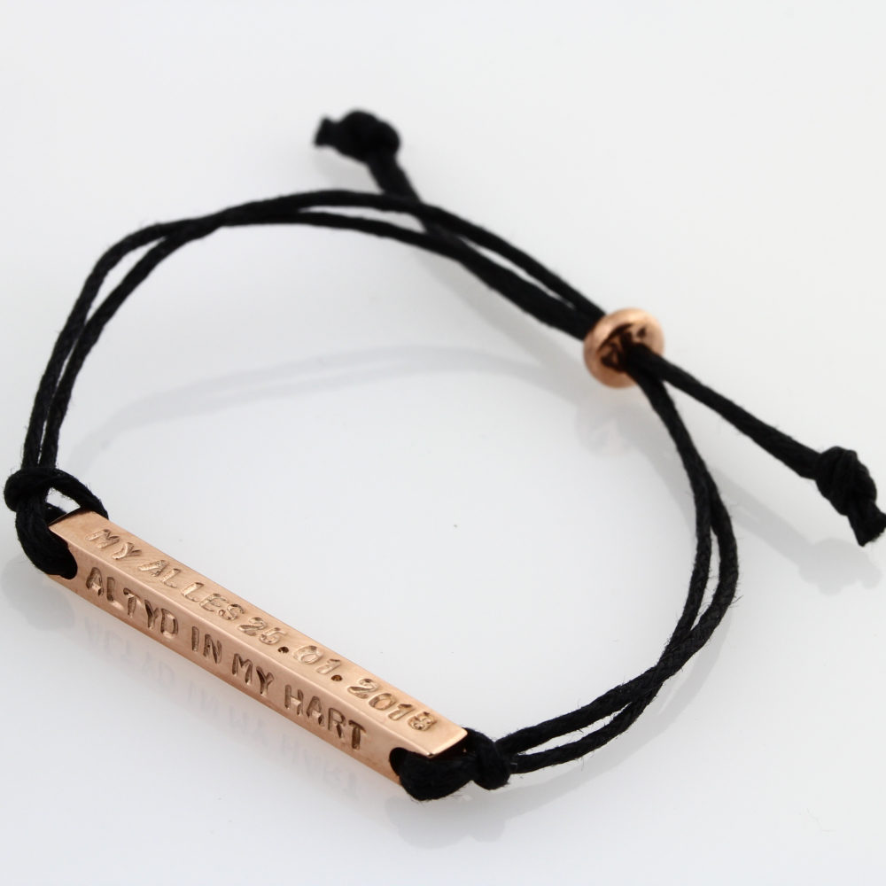 Four Sided Bar Cord Bracelet