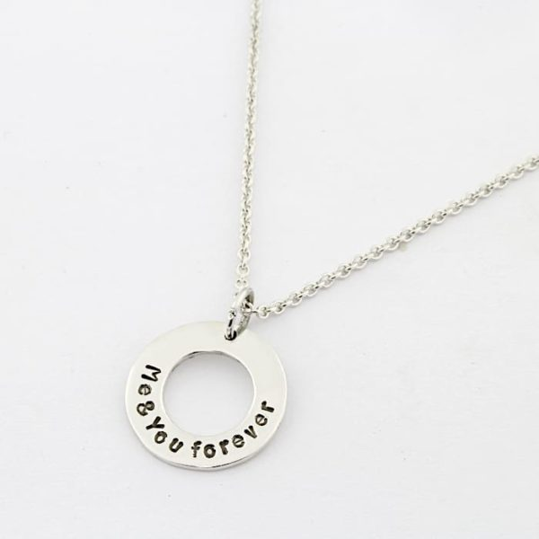 Handstamped Washer Necklace