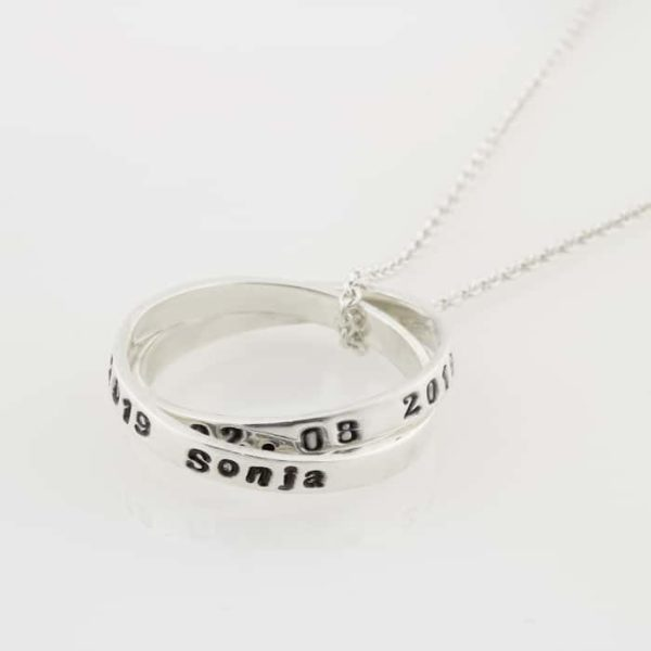 Double Family Ring Necklace