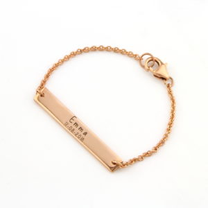 Kid's Wide Bar Identity Bracelet