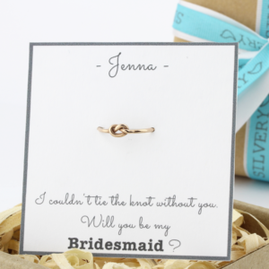 Bridesmaids gift knot ring