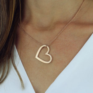 Bold Open Heart Pendant Necklace