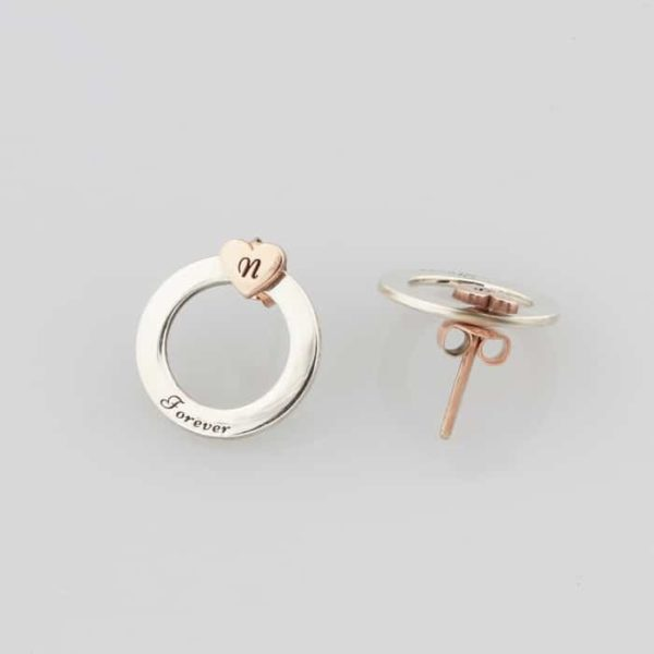 Hoop and heart stud earrings South africa