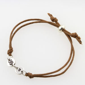 Kid's Twin Coin Cord Bracelet