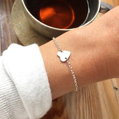 Large Heart Connector Bracelet