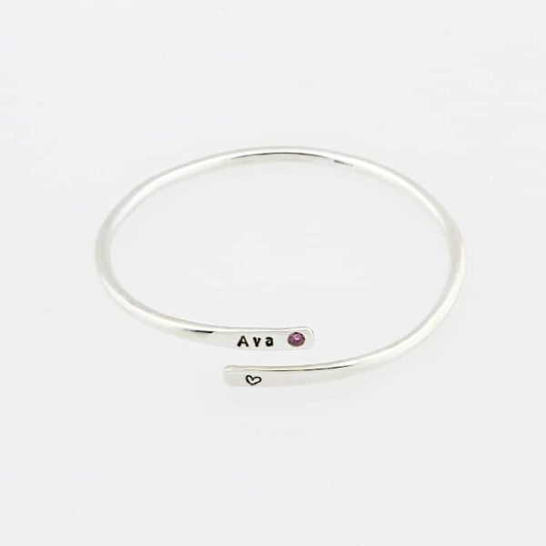 Kid's Open Identity Birthstone Bangle