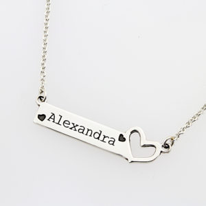 Open Heart Bar Necklace