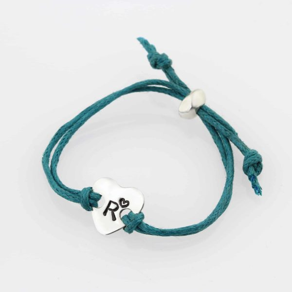 Kiddies Heart Cord Bracelet