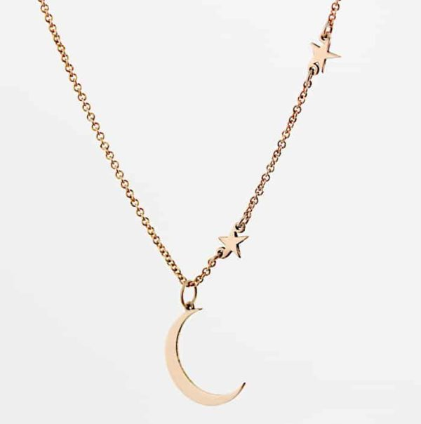 Moon and star necklace 3