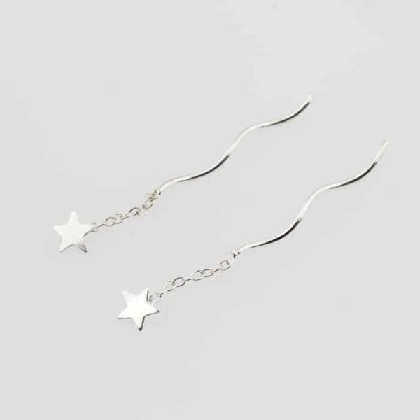 Star Stud Threader earrings
