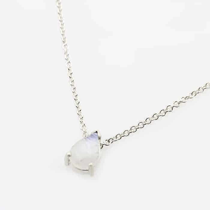 Teardrop moonstone pendant necklace1 2