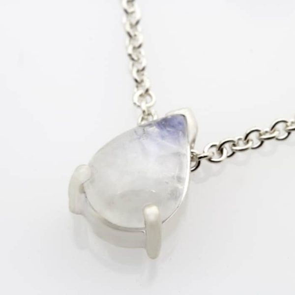 Teardrop moonstone pendant necklace1