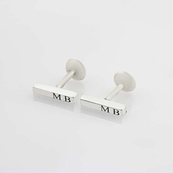 3D Bar Flat Pin Cufflinks