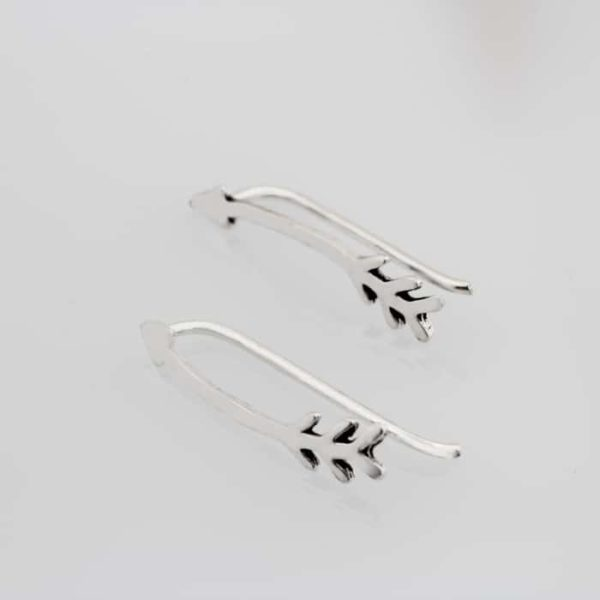Curved Arrow Climber Earrings