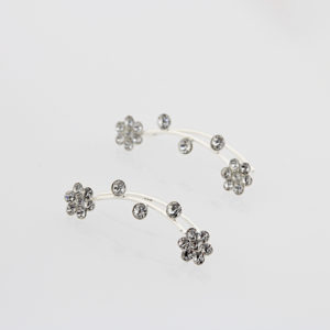 Cyrstal Flower Climber Earrings