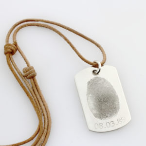 Fingerprint Identity Tag Necklace 1