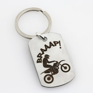 Motorbike Key Ring – Stainless Steel2