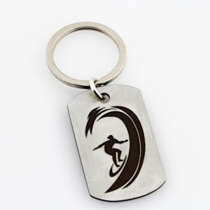 Surfer Dad Key Chain
