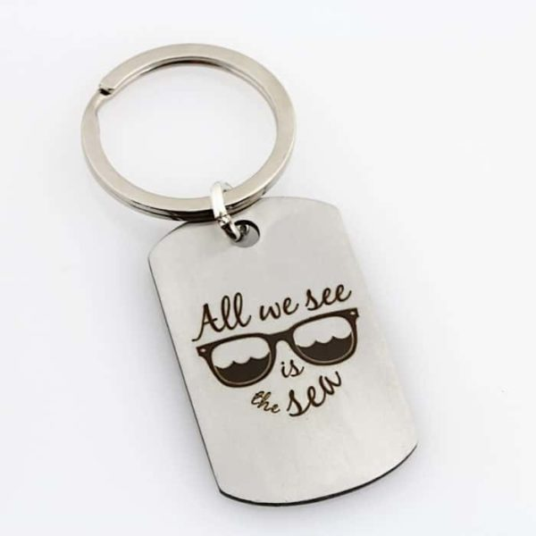 Surfing Days Dad Key Chain