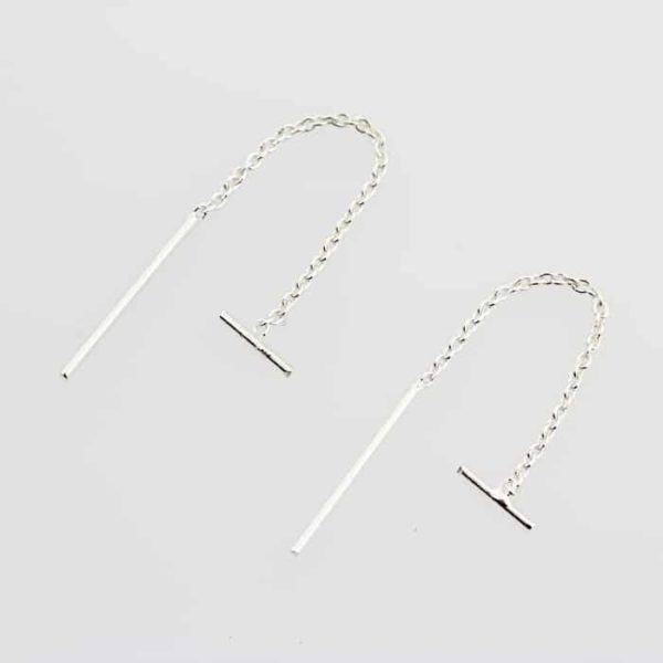 Dainty Bar Stud Threader Earrings