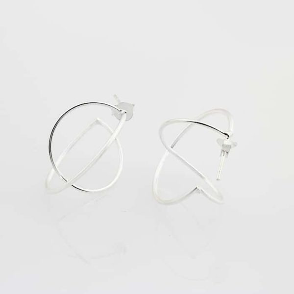 Geometric Double Circle Earrings