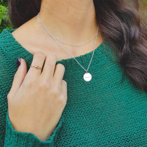 Layered Dewdrop & Coin Necklace