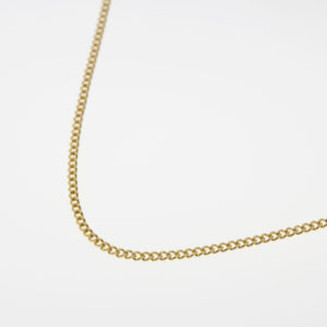 9ct Gold Dainty Curb Necklace