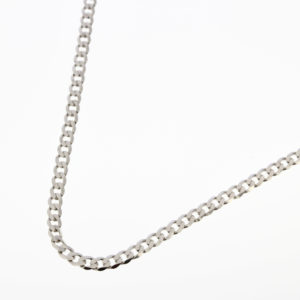 Mens Flat Curb Necklace