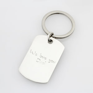 SS Kids Finger Print Key Ring Back