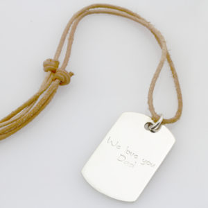SS Kids Finger Print Leather Necklace1