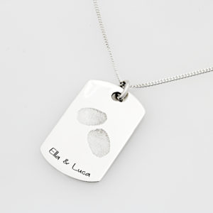 SS Kids Finger Print Necklace