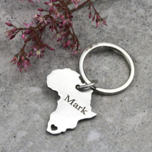 Africa Heart Key Ring