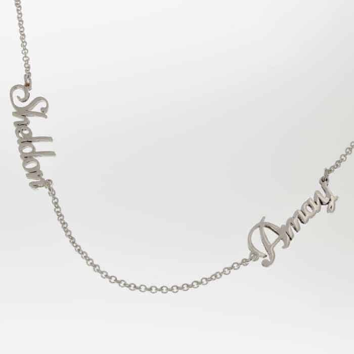 Dainty Double Name Necklace