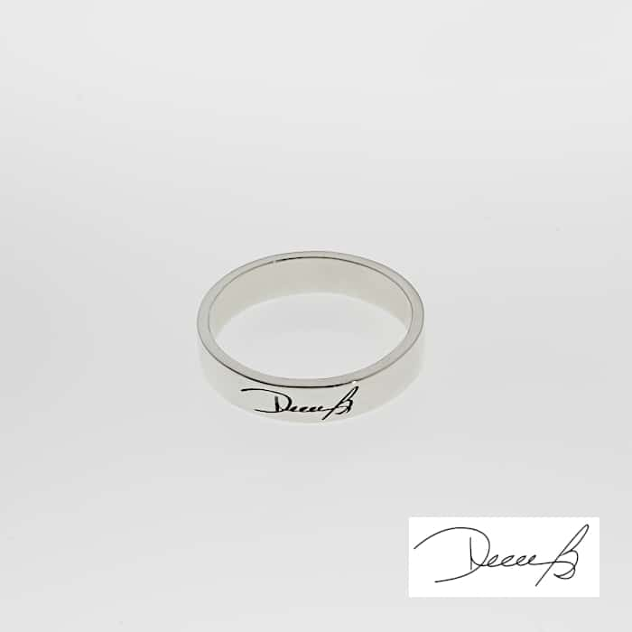 Dainty Engraved Signature Ring