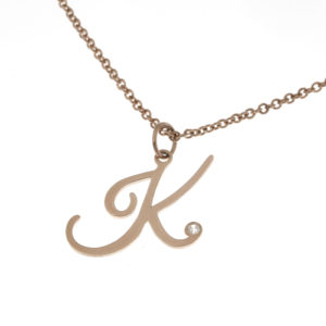 Dainty Initial Diamond Necklace