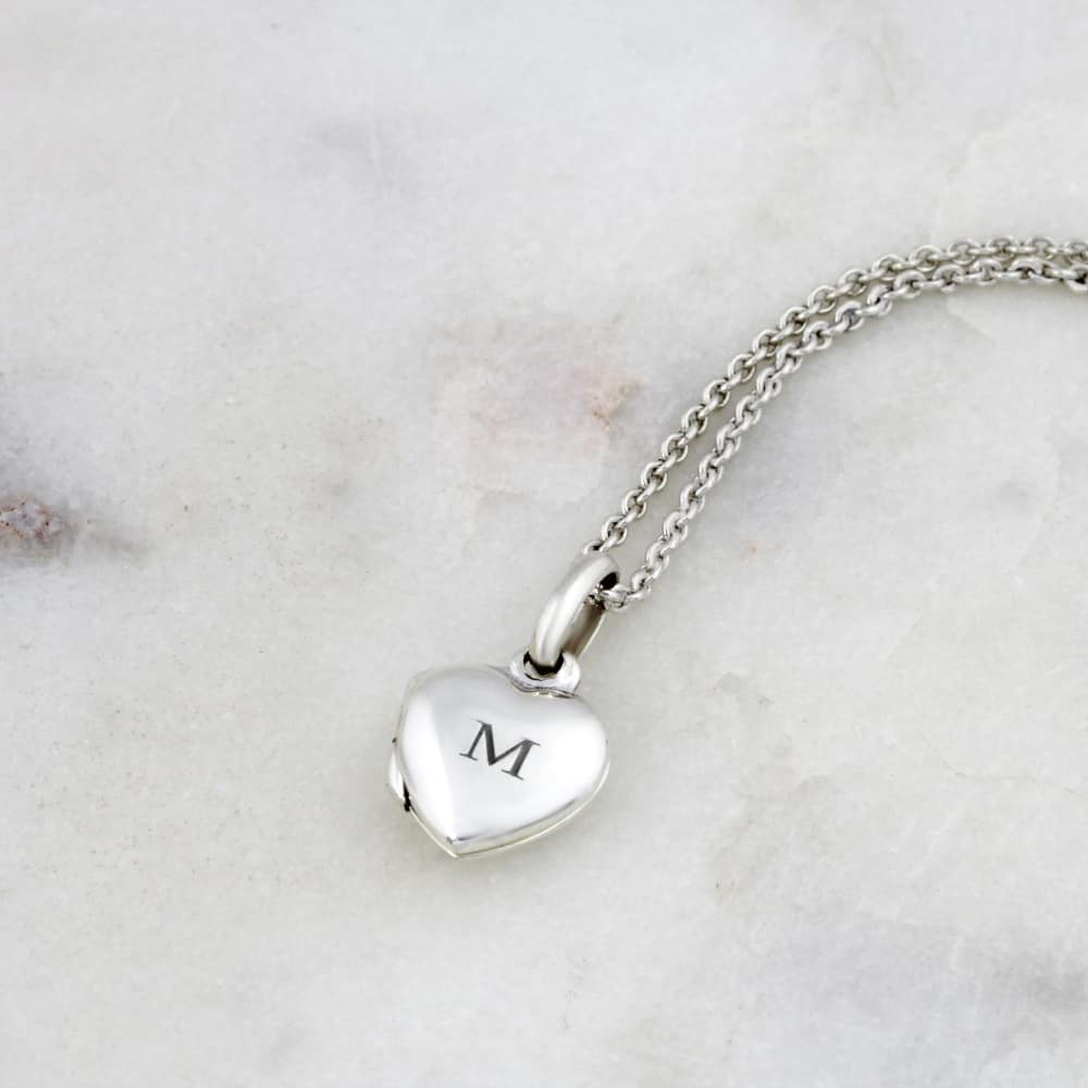 Engraved Heart Locket 1