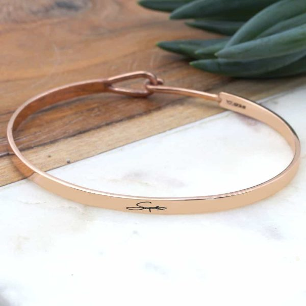 Engraved Signature Bangle