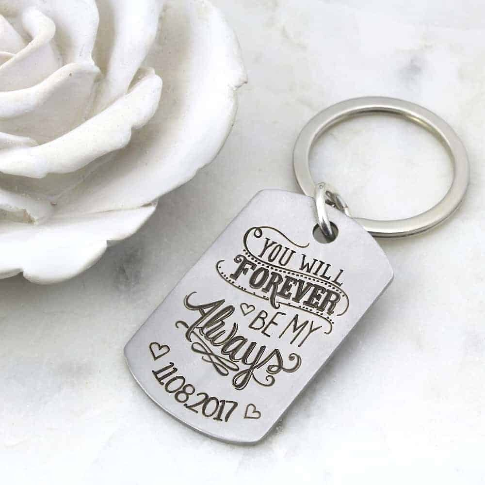 Forever and Always Key Ring