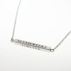 Four Sided Bar Connector Necklace