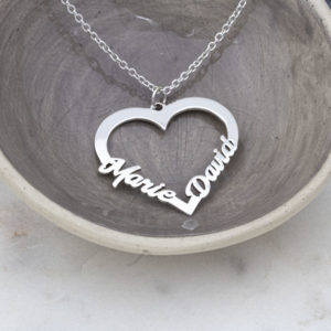 Family Heart Name Necklace