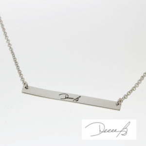 Signature Skinny Bar Connector Necklace
